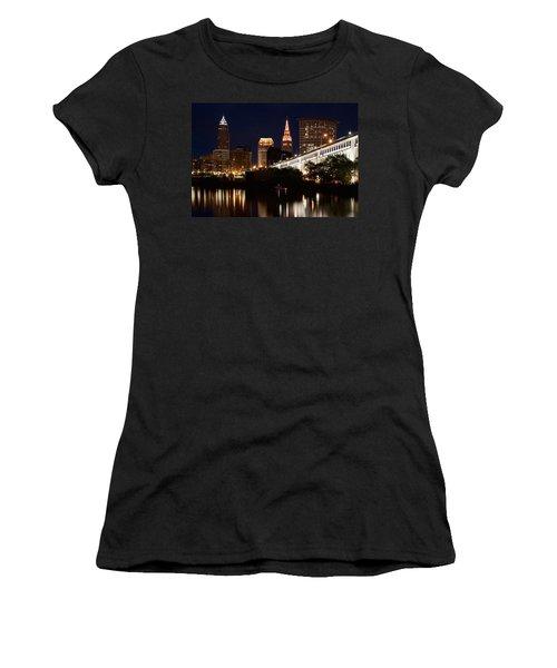 Lights In Cleveland Ohio Women's T-Shirt