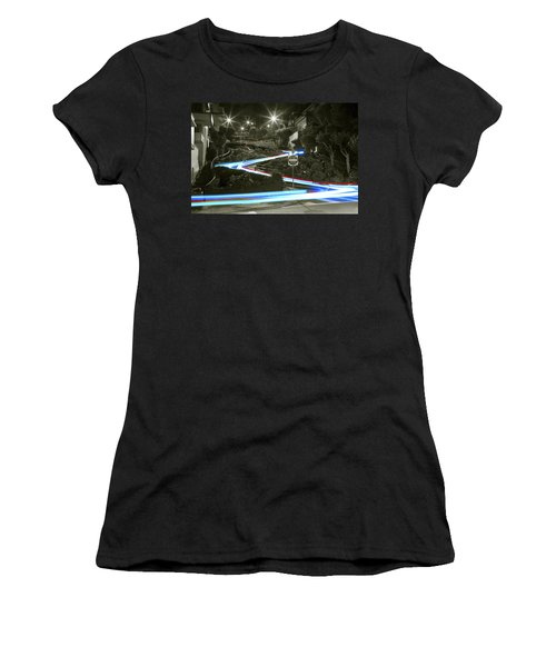 Lights On Lombard Black And White Women's T-Shirt