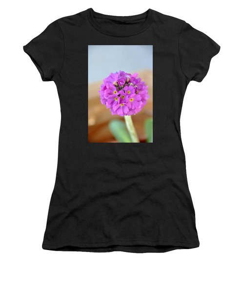 Single Pink Flower Women's T-Shirt (Athletic Fit)