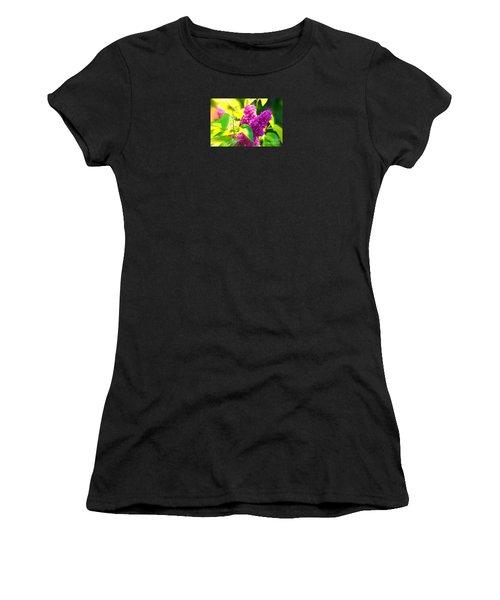 Women's T-Shirt (Junior Cut) featuring the photograph Lilacs by Susanne Van Hulst