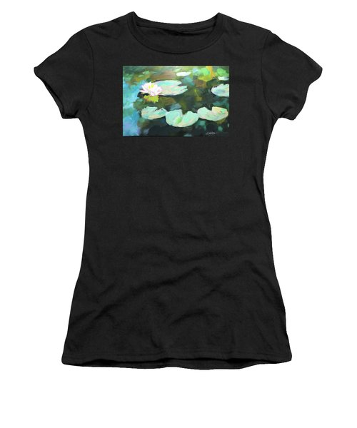 Lillypad Reflections Women's T-Shirt (Athletic Fit)