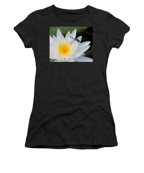Lily And Dragonfly Women's T-Shirt