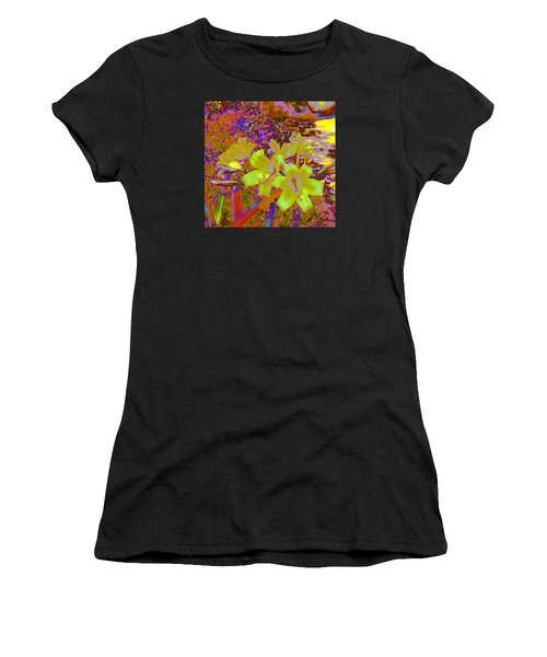 Lily Glow Yellow Women's T-Shirt (Athletic Fit)