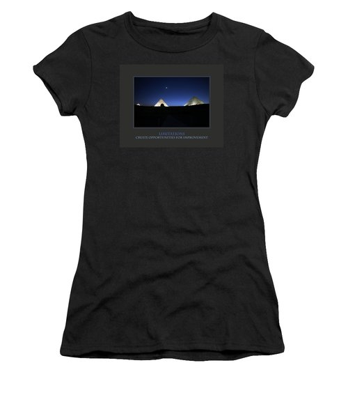 Limitations Create Opportunities For Improvement Women's T-Shirt (Junior Cut) by Donna Corless