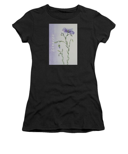 Women's T-Shirt featuring the painting Linacea by Ruth Kamenev
