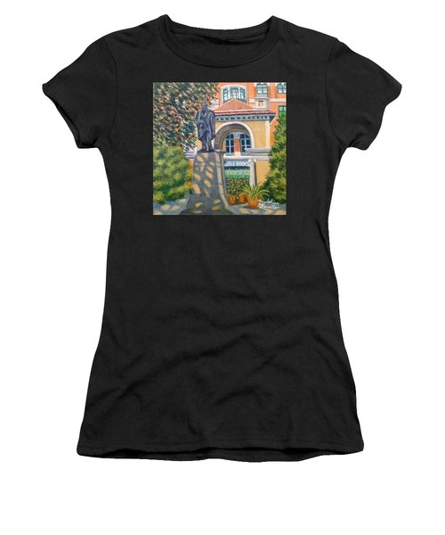 Lincoln At Union Square, N.y. Women's T-Shirt (Athletic Fit)