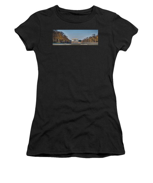 Lincoln From Afar Women's T-Shirt (Athletic Fit)