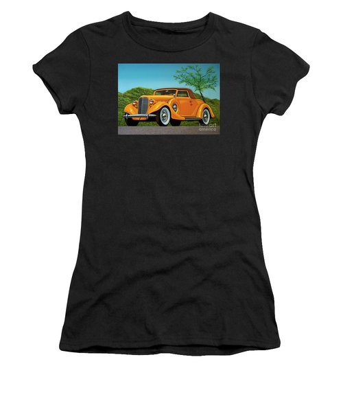 Lincoln K Convertible 1935 Painting Women's T-Shirt
