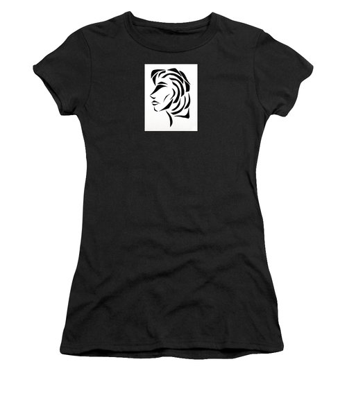 Women's T-Shirt (Junior Cut) featuring the mixed media Lindsay by Delin Colon