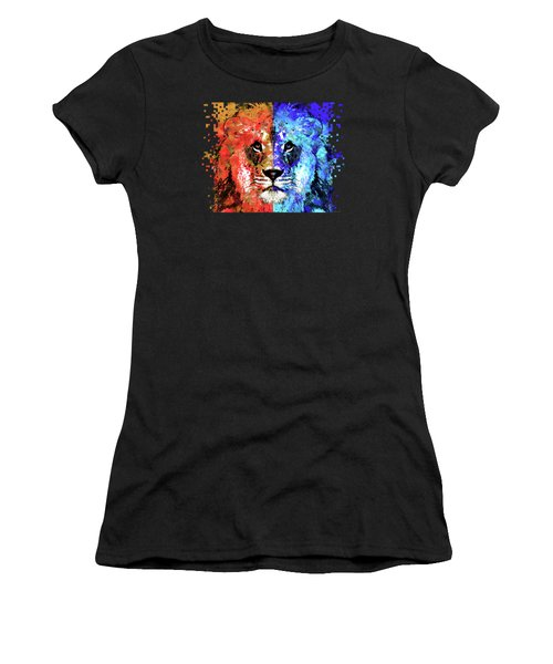 Lion Art - Majesty - Sharon Cummings Women's T-Shirt (Junior Cut) by Sharon Cummings