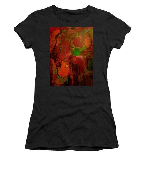 Lion Proile Women's T-Shirt (Athletic Fit)