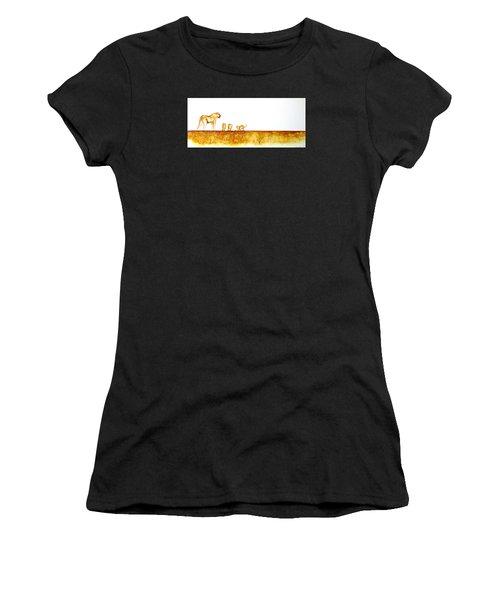 Lioness And Cubs - Original Artwork Women's T-Shirt