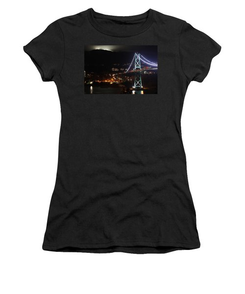 Lions Gate Bridge And Grouse Mountain Women's T-Shirt
