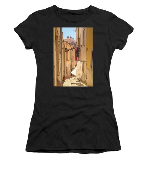 Lisbon Street #2 Women's T-Shirt (Athletic Fit)