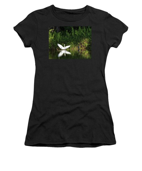 Little Blue Heron Non-impressed Women's T-Shirt (Athletic Fit)