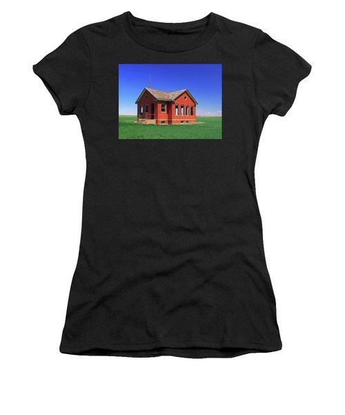 Little Brick School House Women's T-Shirt (Athletic Fit)