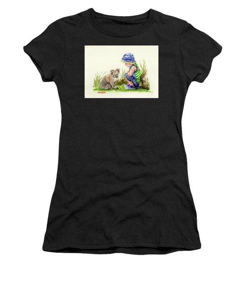 Little Friends Watercolor Women's T-Shirt (Athletic Fit)