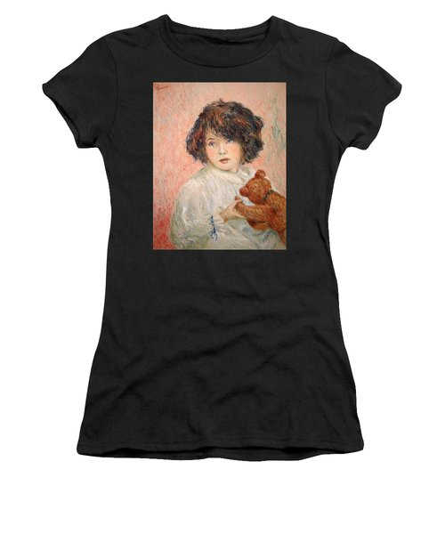 Little Girl With Bear Women's T-Shirt (Athletic Fit)