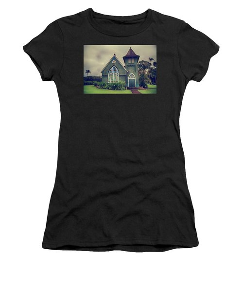 Women's T-Shirt featuring the photograph Little Green Church by Laurie Search