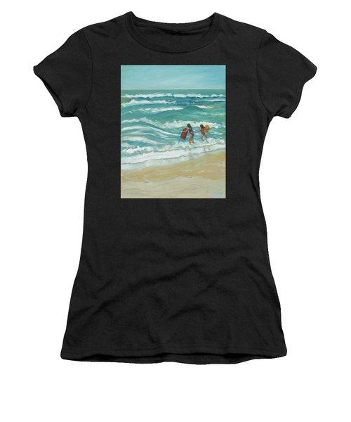 Little Surfers Women's T-Shirt (Athletic Fit)