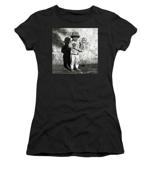 Little Vietnamese Girl Playing With Her Doll Women's T-Shirt