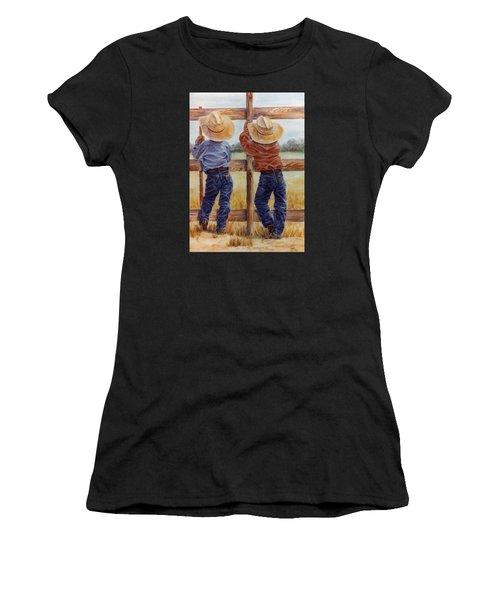 Little Wranglers Women's T-Shirt (Athletic Fit)