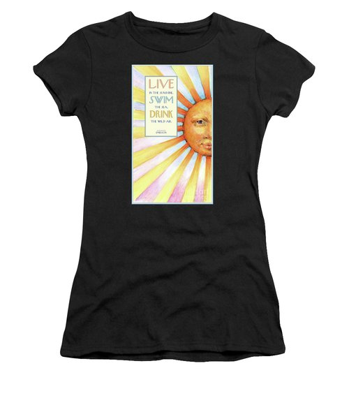 Live In The Sunshine Women's T-Shirt (Athletic Fit)