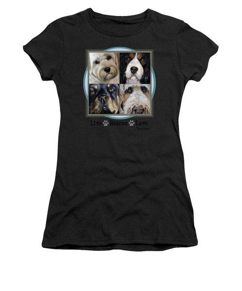 Live Rescue Love Women's T-Shirt (Athletic Fit)