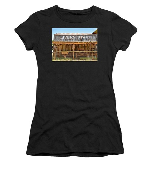 Livery Stable Women's T-Shirt (Junior Cut) by Ray Shrewsberry