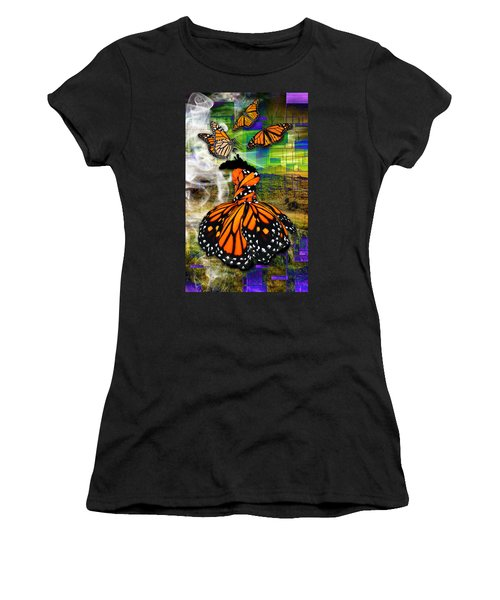 Women's T-Shirt (Athletic Fit) featuring the mixed media Living One's Destiny by Marvin Blaine