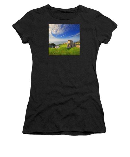 Llansteffan Castle 2 Women's T-Shirt (Athletic Fit)