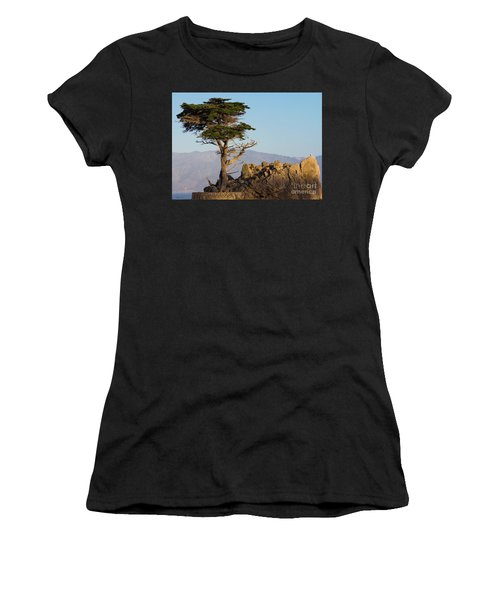 Lone Cypress Tree  Women's T-Shirt (Athletic Fit)
