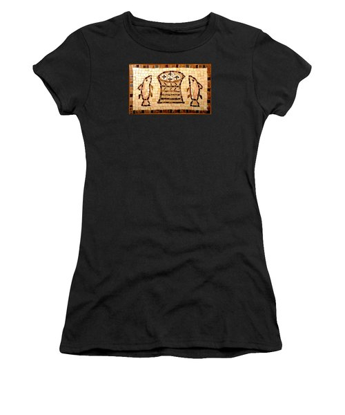Loaves And Fishes Mosaic Women's T-Shirt (Athletic Fit)