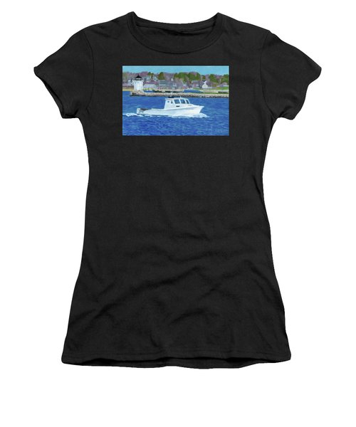 Lobster Boat And Bug Light Women's T-Shirt