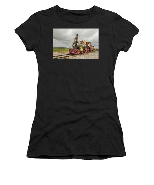 Women's T-Shirt (Athletic Fit) featuring the photograph Locomotive No. 119 by Sue Smith