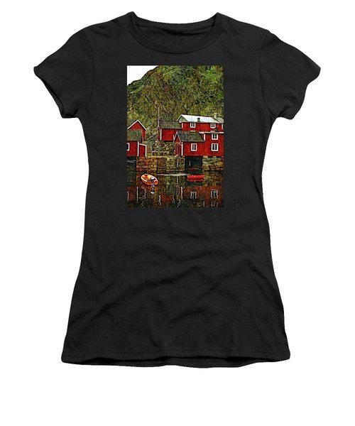 Lofoten Fishing Huts Overlay Version Women's T-Shirt