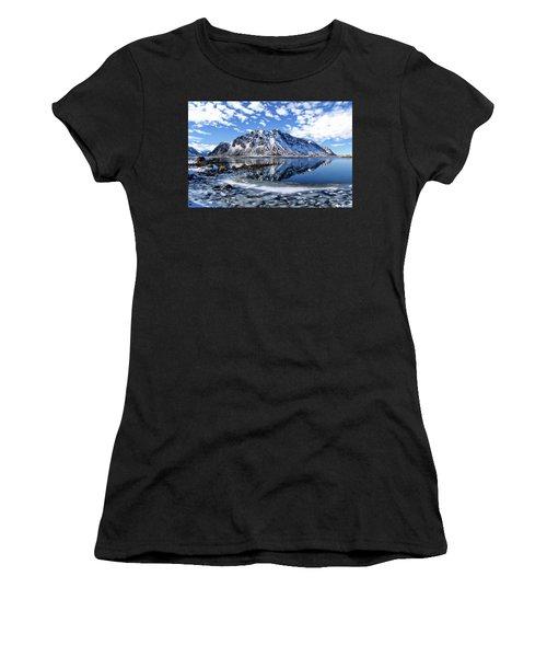 Lofoten Winter Scene Women's T-Shirt