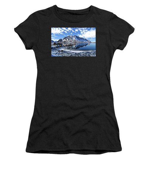Lofoten Winter Scene Women's T-Shirt
