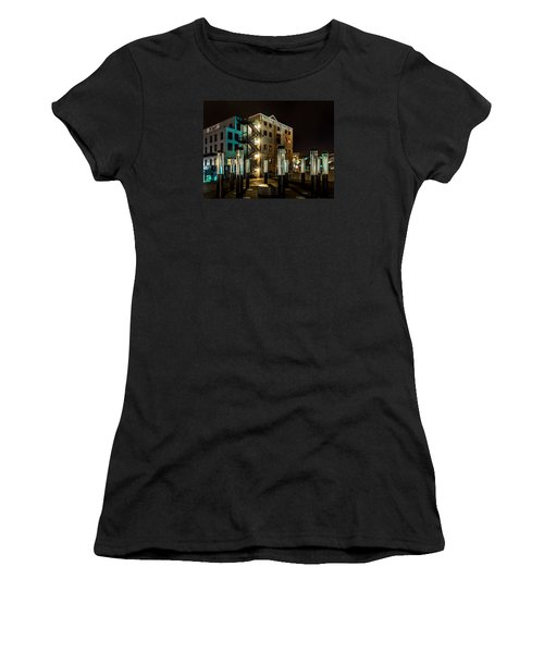 Lofts Overlooking Water Forest Women's T-Shirt (Athletic Fit)