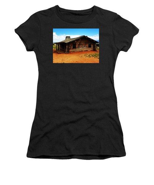 Women's T-Shirt (Junior Cut) featuring the photograph Log Cabin Yr 1800 by Joseph Frank Baraba
