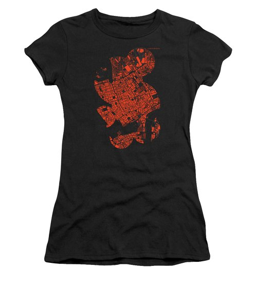 London Engraving Map Women's T-Shirt (Athletic Fit)