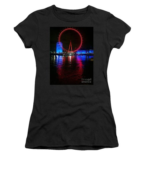 London Eye At Night Women's T-Shirt (Athletic Fit)
