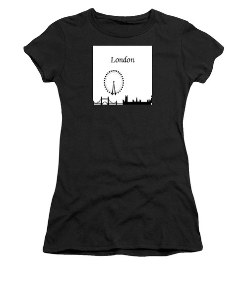London Skyline Outline Women's T-Shirt (Athletic Fit)