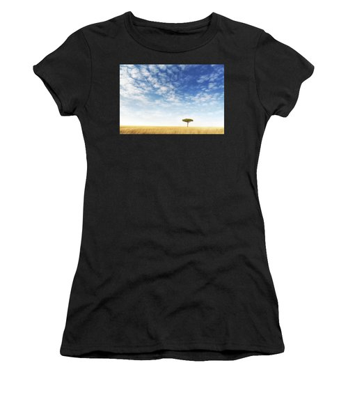 Lone Acacia Tree In The Masai Mara Women's T-Shirt