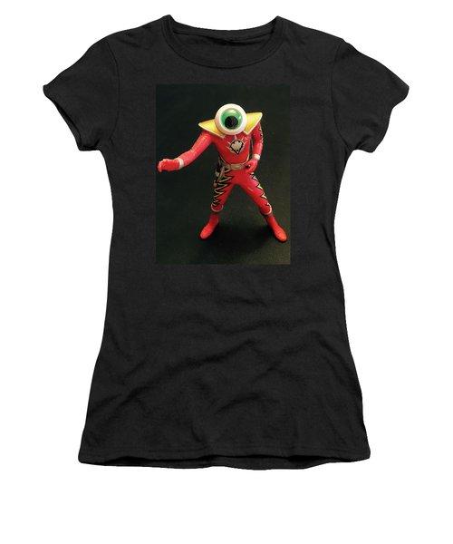 Women's T-Shirt (Junior Cut) featuring the sculpture Lone Eye Ranger by Douglas Fromm