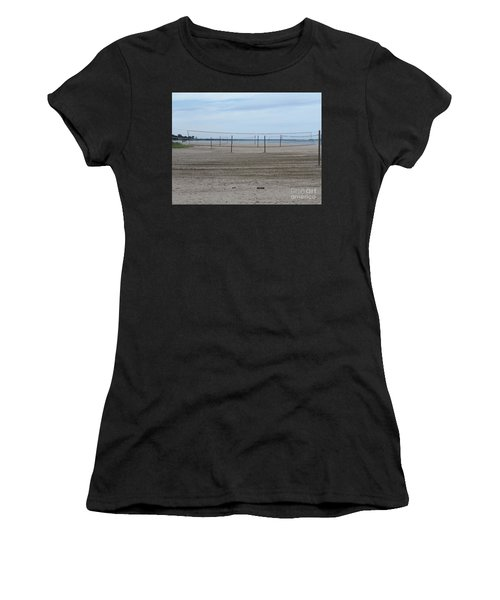 Lonely Beach Volleyball Women's T-Shirt (Athletic Fit)