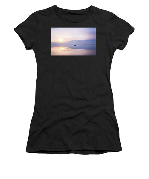 Women's T-Shirt featuring the photograph Lonely Mister Lonely by Bruno Rosa