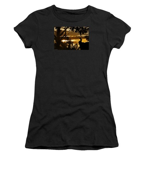 Women's T-Shirt (Junior Cut) featuring the photograph Lonely Prayer by Bernd Hau