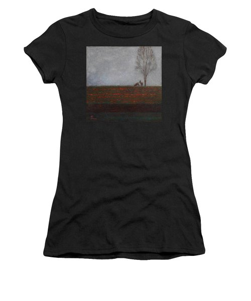 Lonely Tree With Two Roes Women's T-Shirt