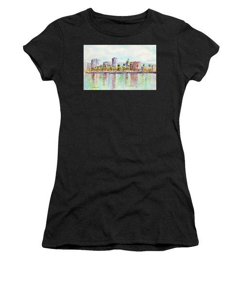 Long Beach Coastline Reflections Women's T-Shirt